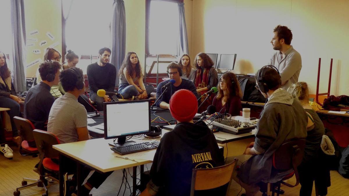 plateau radio au lycée