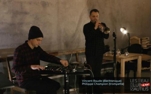 Beaj Klub #1 : Vincent Raude (Electronique) / Philippe Champion (Trompette)
