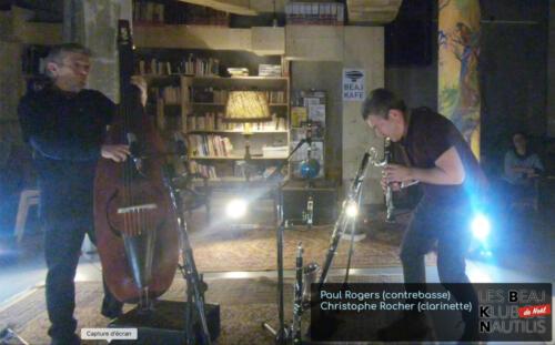 Beaj Klub #5 : Paul Rogers (Contrebasse) / Christophe Rocher (Clarinettes)
